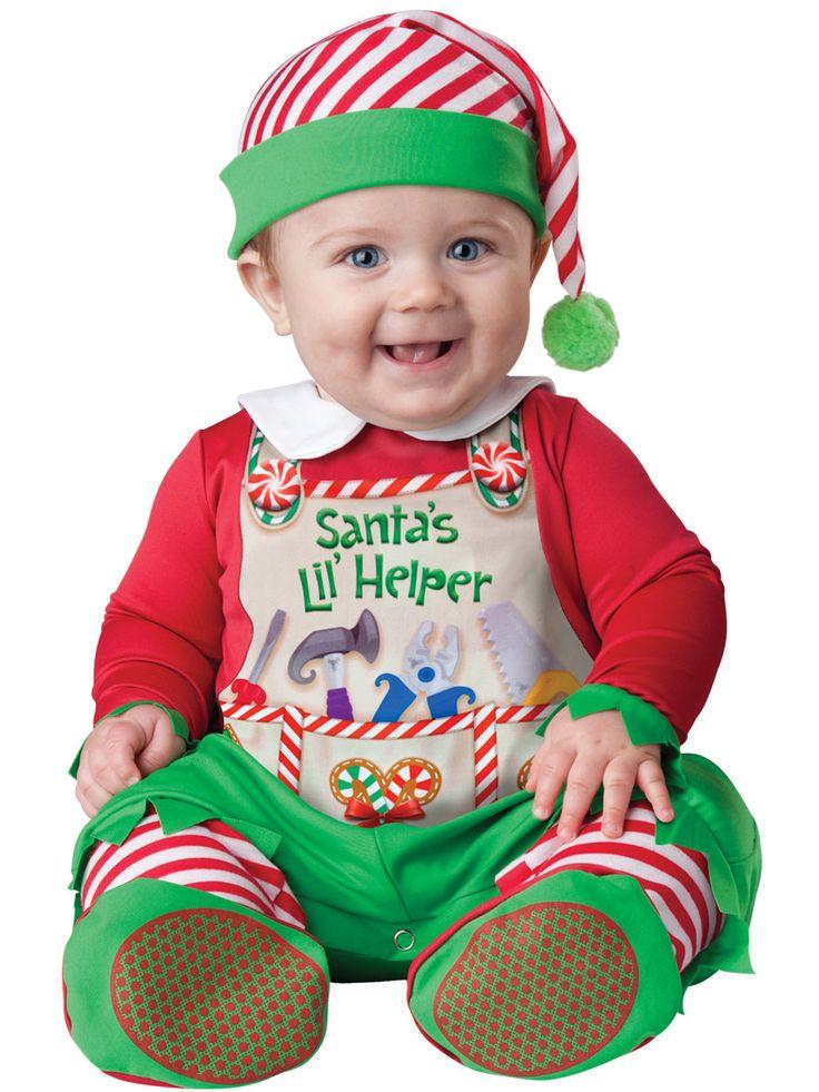 Santas Lil' Helper Baby Costume Christmas Costumes - Mr. Costumes