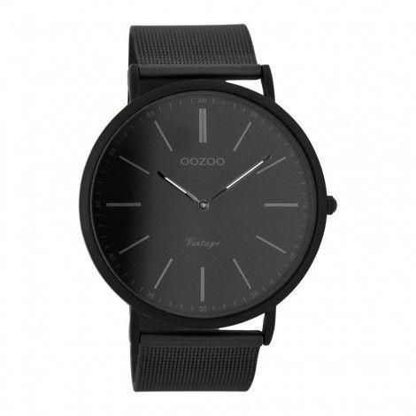 Koop dit OOZOO Vintage horloge Zwart/Grijs C7384 horloge online in onze webwinkel.                     Dit is een heren horloge met een quartz uurwerk.                             De kleur van de kast is zwart en de kleur van het uurwerk is zwart.                             De kast is gemaakt van staal en de band van het horloge van staal.                             Het uurwerk is analoog en er wordt gebruik gemaakt van mineraalglas.                                       Wij ...