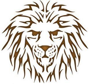 Lion Head Reusable Stencil Dons Hobby Shop Design