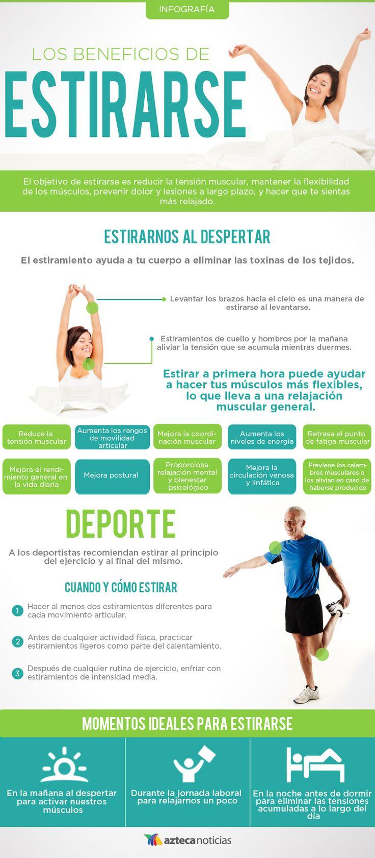 Los beneficios de estirarse #infografia