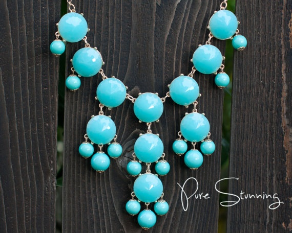Aqua Statement Bubble Necklace with 26 chain by PureStunning, $20.00Bubbles Statement, Style Bubbles, Statement Necklaces, Statement Bubbles, Aqua Bubbles, Crew Bubbles, Bubbles Necklaces, Bubble Necklaces, Bibs Necklaces