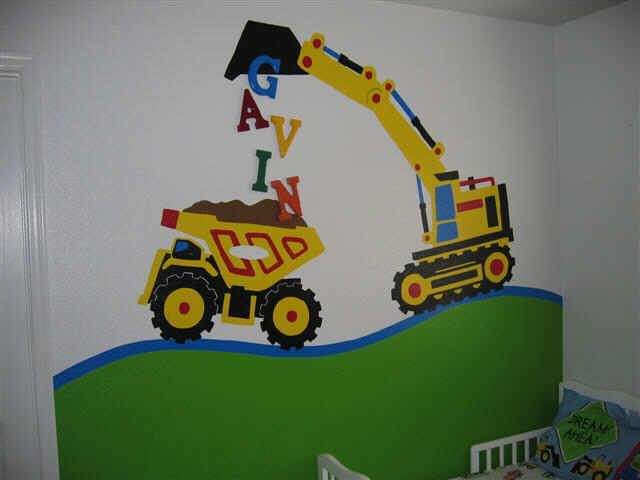 construction theme room  | boy's bedroom construction paint bad MLS photos Phoenix home house ...