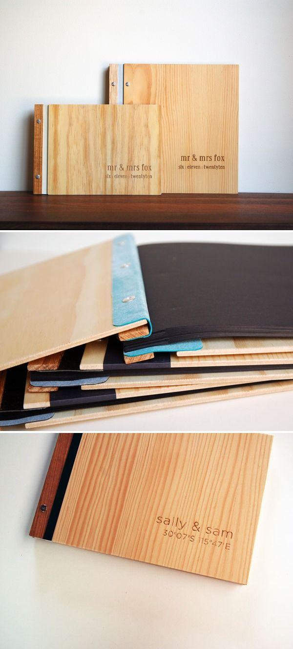 LOVE wooden book covers. I actually attempted this when I was in college...key word *attempt* :)