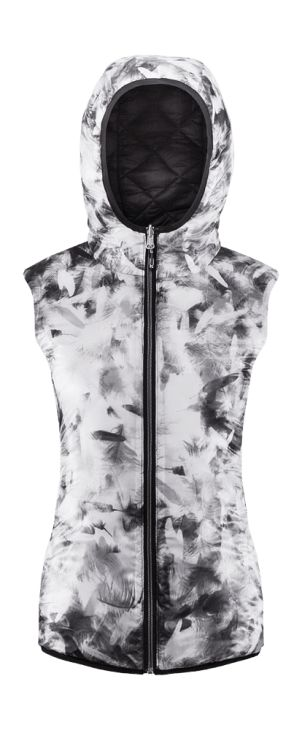 Double-layer vest with down filling, perfectly keeping the warm. Bionic Eco finishing, increases the level of protection from moisture. You can change your style in the blink of an eye, thanks to two-sided design, it can be more elegant or sporty.   Benefits: -integrated hood -two, side pockets -uniquely light textile -fabric easy in maintenance