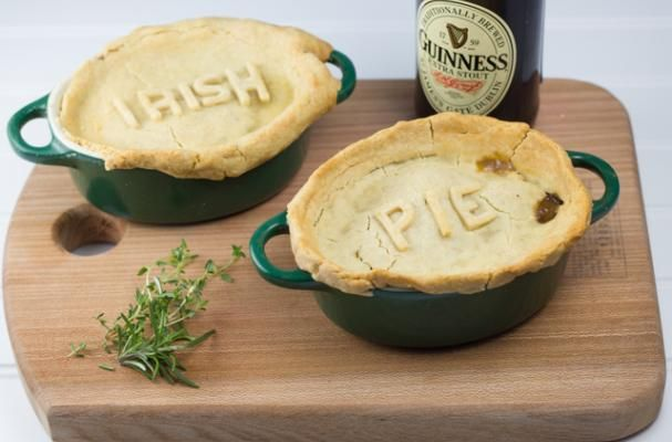 This hearty, rich stew is covered with crisp buttery pastry which crumbles when you dip your spoon in to take a bite. The slightly bitter Guinness, the tender beef, cream and parmesan make this one satisfying pie. The beef is cooked slowly in a bath of Gu