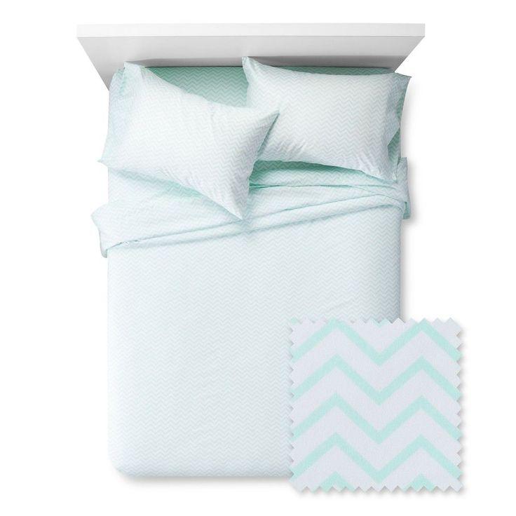 Chevron Sheet Set - Pillowfort, Crystalized Green