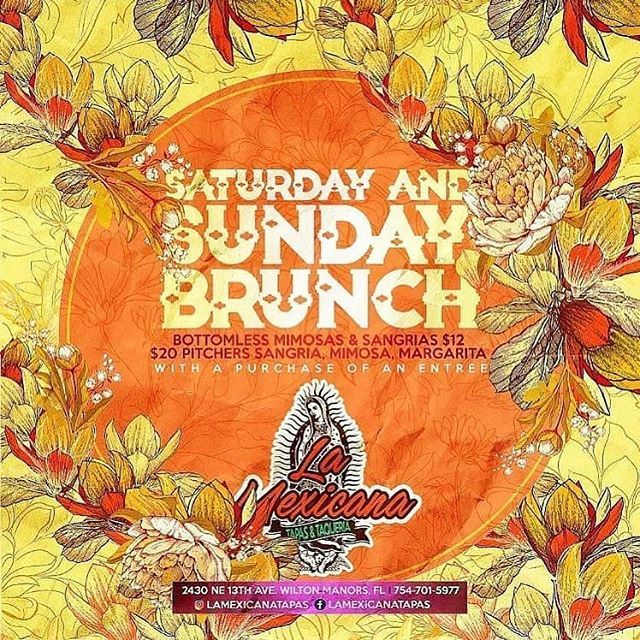 . The weekend is here  S bado y t  cuerpo lo sabe  Join us for brunch