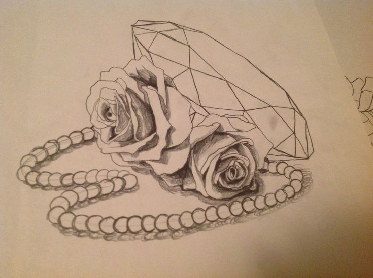 rose and pearl tattoo designs wwwpixsharkcom images