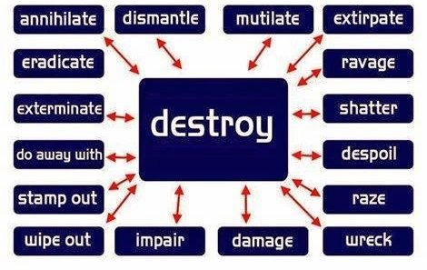 Other way to say Destroy #English #Vocabulary