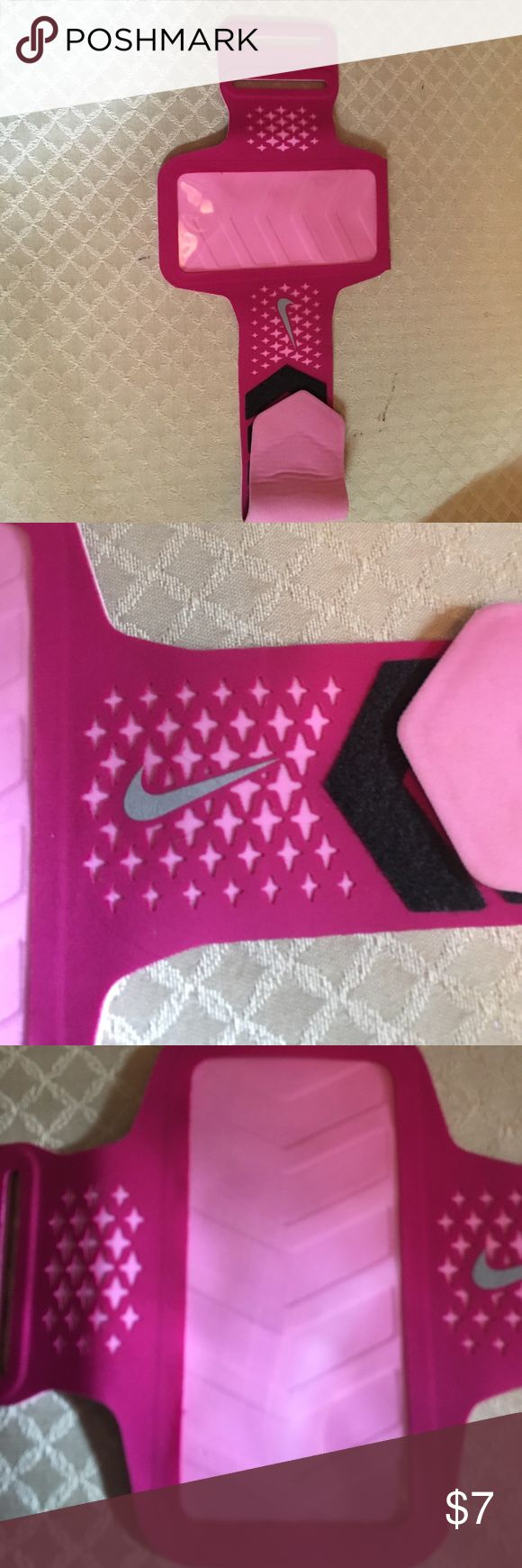 Nike pink armband Nike pink armband great condition fits must size phones Nike Accessories Tablet Cases