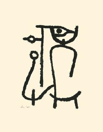 Lady Apart (Silkscreen print) by Paul Klee