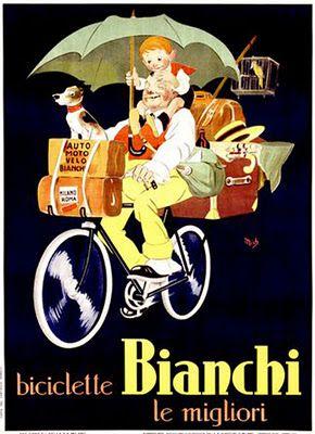Vintage Italian Posters ~ Biciclette Bianchi le Migliori