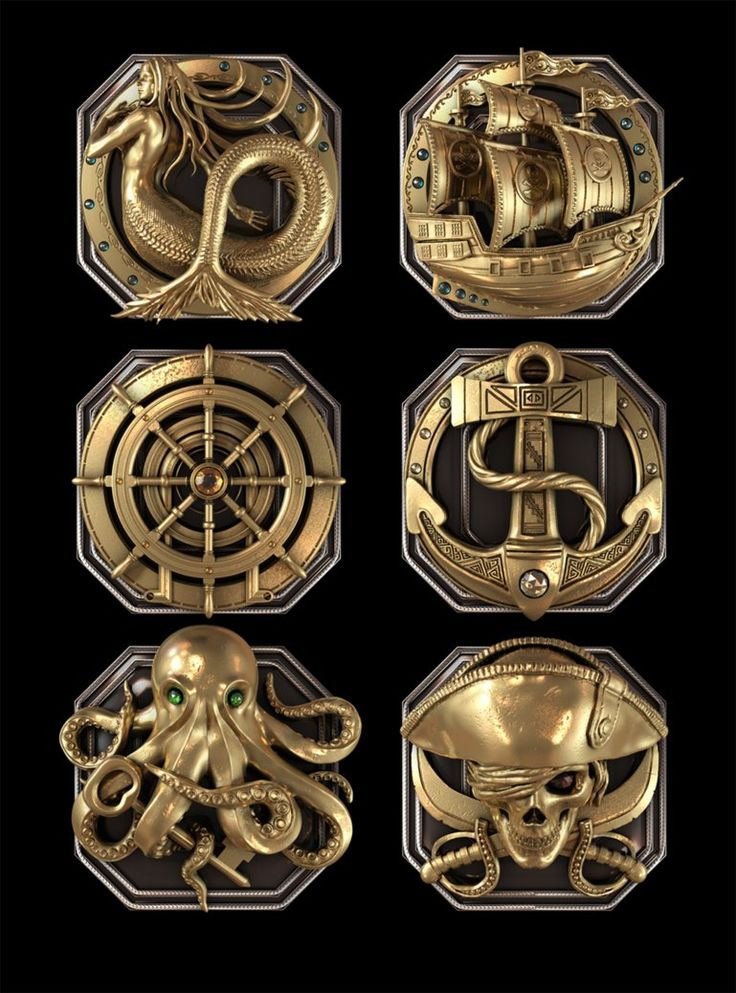ArtStation - Pirate elements, Kirill Losev