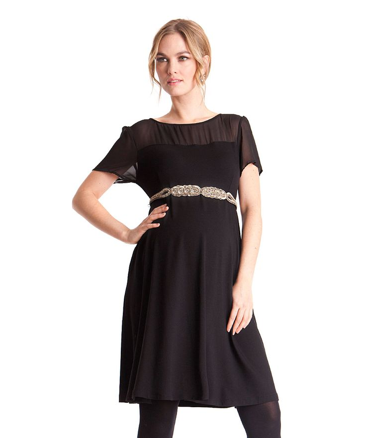 Seraphine Maternity Lucille Dress with Diamonte Belt