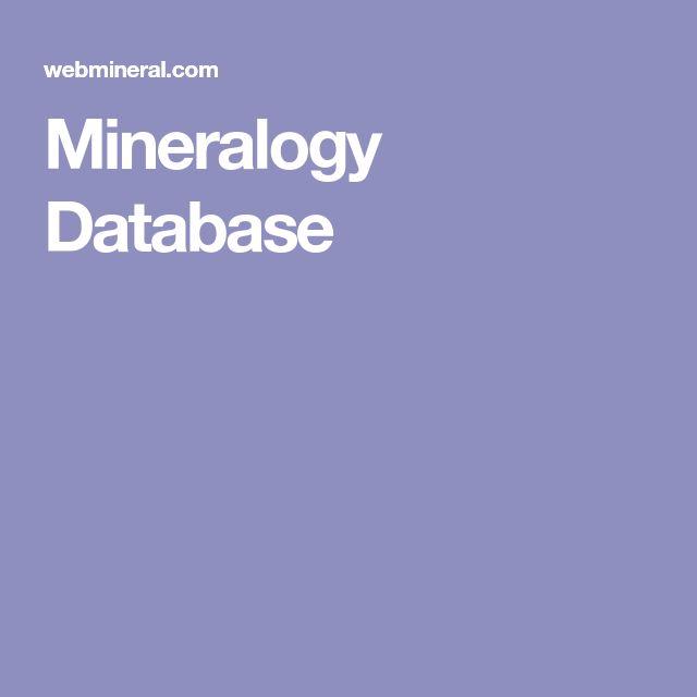 Mineralogy Database