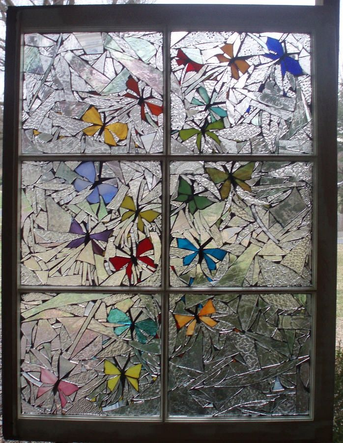 butterfly mosaic art | Butterfly Swirl Glass Art at fine ...