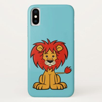 Cute Cartoon Lion iPhone X Case - cat cats kitten kitty pet love pussy