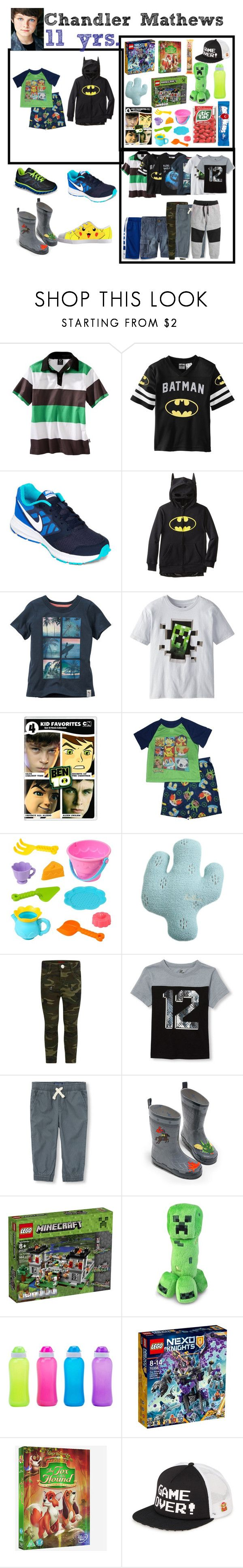 """""""Chandler(11)"""" by laylaitaly ❤ liked on Polyvore featuring C9 by Champion, NIKE, Canterbury, Cartoon Network, Minecraft, KIDORABLE and Vans"""