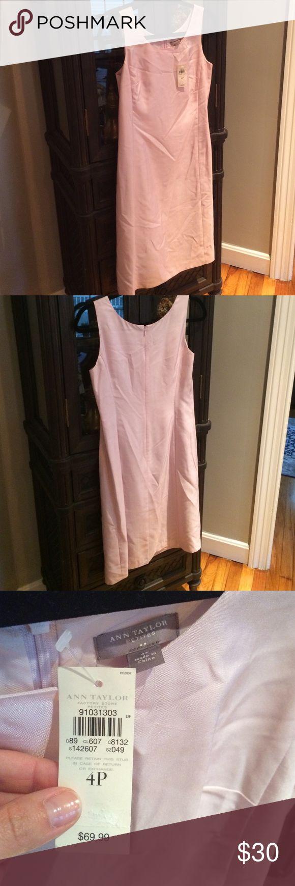 Ann Taylor petite dress Light lavender, pink color, 100% silk, tea length dress.  Never worn, perfect condition! Ann Taylor Dresses Midi