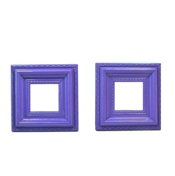 orante purple picture frames, frame set, home decor, home accessories, photo frames, upcycled frames, violet. $24.00, via Etsy.
