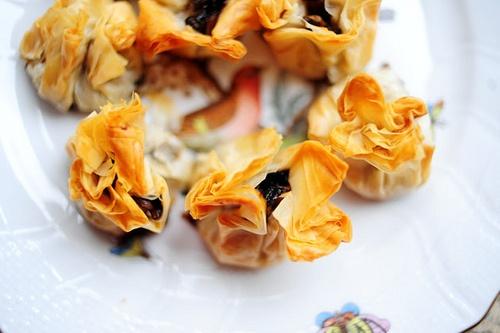 phyllo fruit tart spanakopita spinach feta in phyllo mini pecan phyllo ...