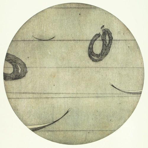 Simon Kaan, <i>Untitled (Circle III)</i>, intaglio woodcut on 600 x 565 mm paper, from an edition of 12, 2010. NZ$1365 incl GST.