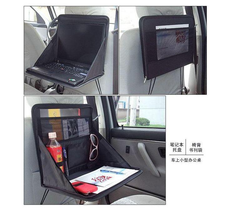 New Car Seat Back Multi-Pocket Storage Bag Laptop Computer Folding Tray Desk Laptop Holder Car Accessories Hot Sale !