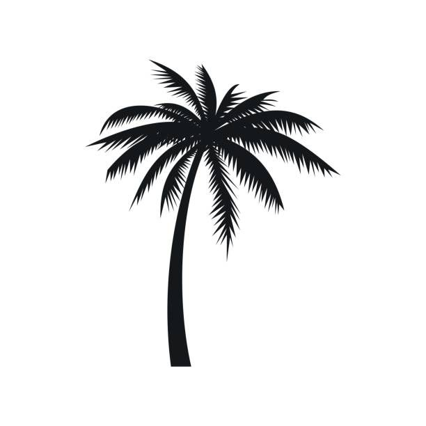 Coconut Palm Tree Icon In Simple Style On A White Background Palm Tree Tattoo Palm Tree Icon Palm Tree Drawing