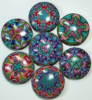 """""""Quilt Series"""" Pendants by Carol Simmons"""