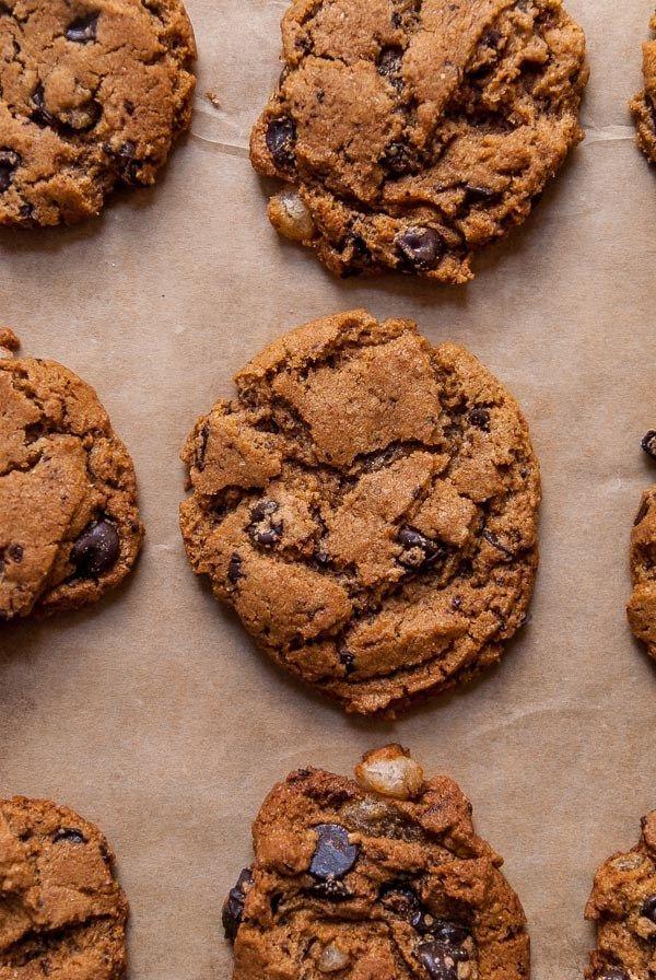 ginger dark chocolate chip cookies, vegan