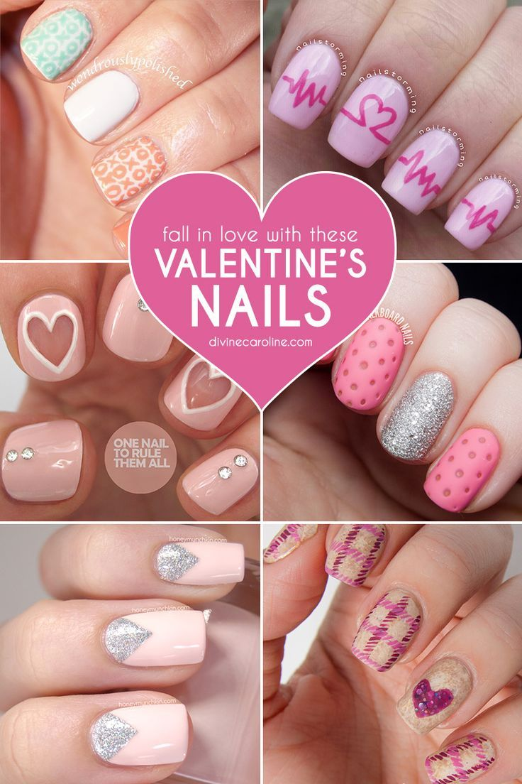 Get Valentine's Day-ready with these 28 nail designs that will get you excited for the day of love. #ValentinesDay #NailDesigns #Nails