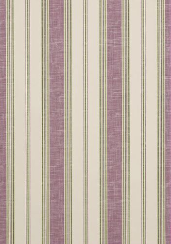 Bohemian Stripe #wallpaper and coordinating #fabric in Lilac from the #Monterey collection by #Thibaut