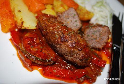 Köttfärsrulander med timjan