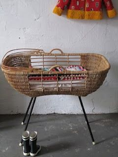 Vintage cane crib.. how cute!! @Yolanda Whitaker you need!
