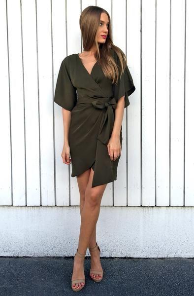 Leila Dress - Khaki