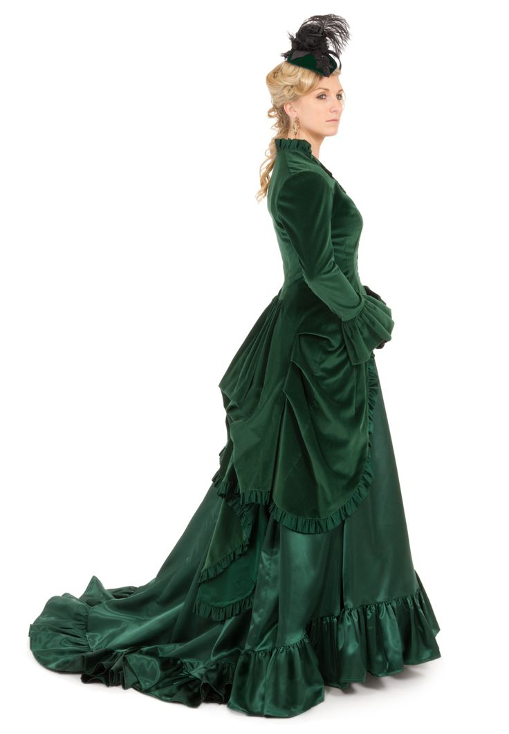 Victorian Velvet and Satin Polonaise By Recollections