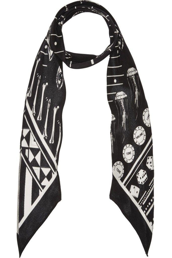 Rockins Printed Silk Scarf
