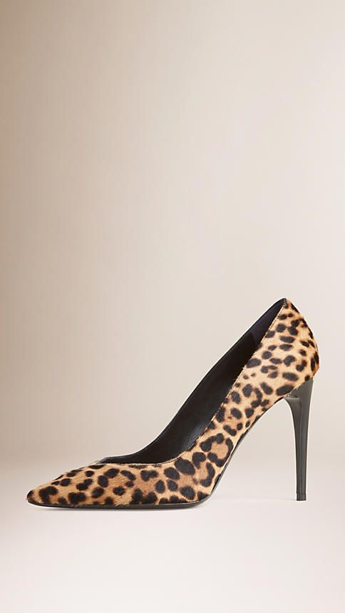 Burberry classic pumps in animal print calfskin with v-cut front. Discover the shoes at Burberry.com