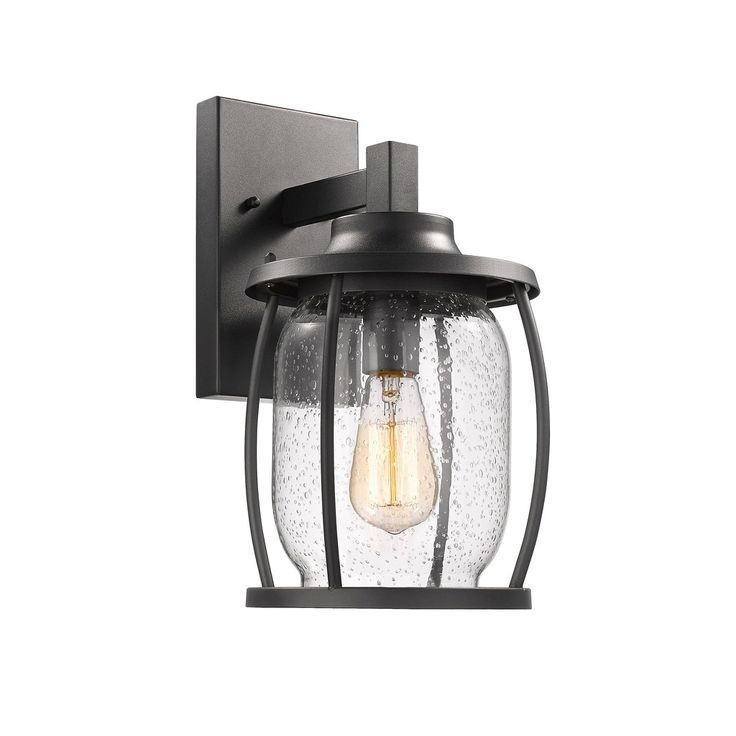 Chloe Transitional 1-light Textured Outdoor Wall Sconce