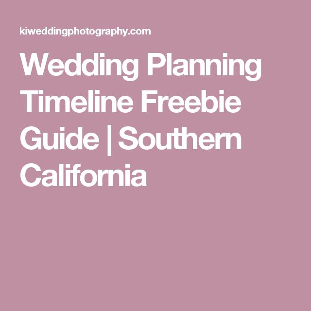 17 Best Ideas About Wedding Planning Timeline On Pinterest