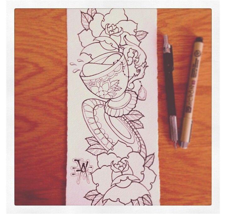 Alice in wonderland tat sketch by Nevermore-Ink on DeviantArt  |Alice Tea Tattoo
