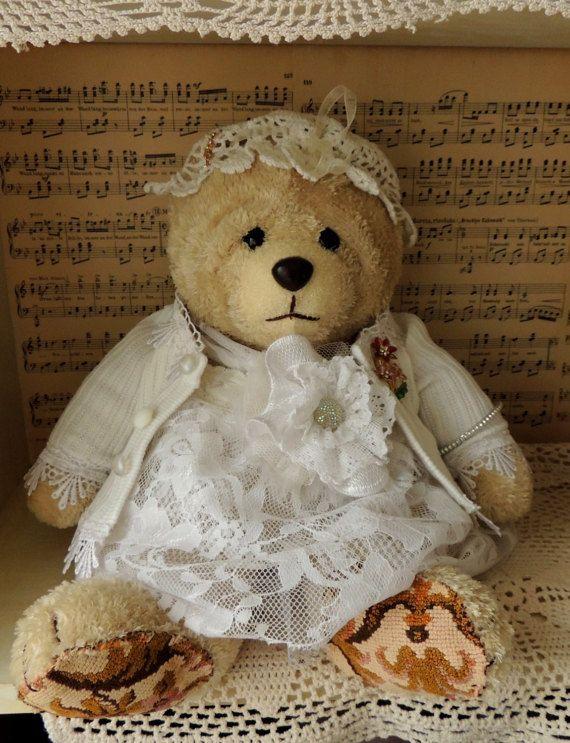 Vintage Teddy Bear Girl Preschool Toy Montessori Toy