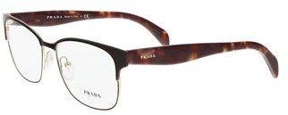 Prada Pr 65rv Ue01o1/55 Black/havana Rectangle Sunglasses.