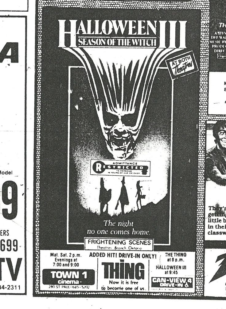 Halloween III Newspaper Ad
