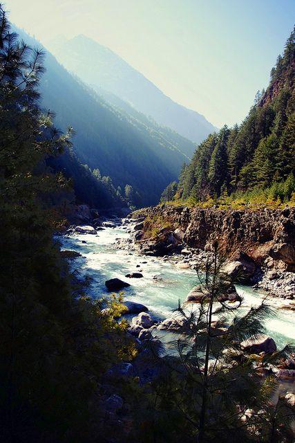 "The Milk River"" between Phakding and Namche Bazaar on ""Everest Base Sagarmatha National Park/ Nepal.  via lukas kozmus"