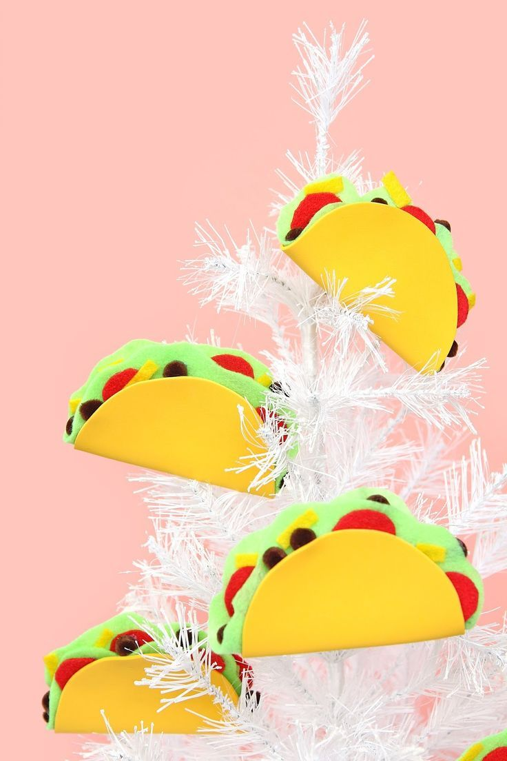 Oh Christmas tree, oh Christmas tree, how lovely are your tacos? I couldn't wait to do that. Ha! That's right folks, we made TACO HOLID...