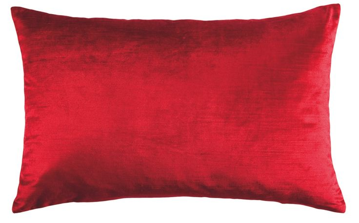 The rectangular Coco cushion, price $39, features a sensual raw silk-like or velvet finish. Available in red, indigo, purple, mushroom and chartreuse.