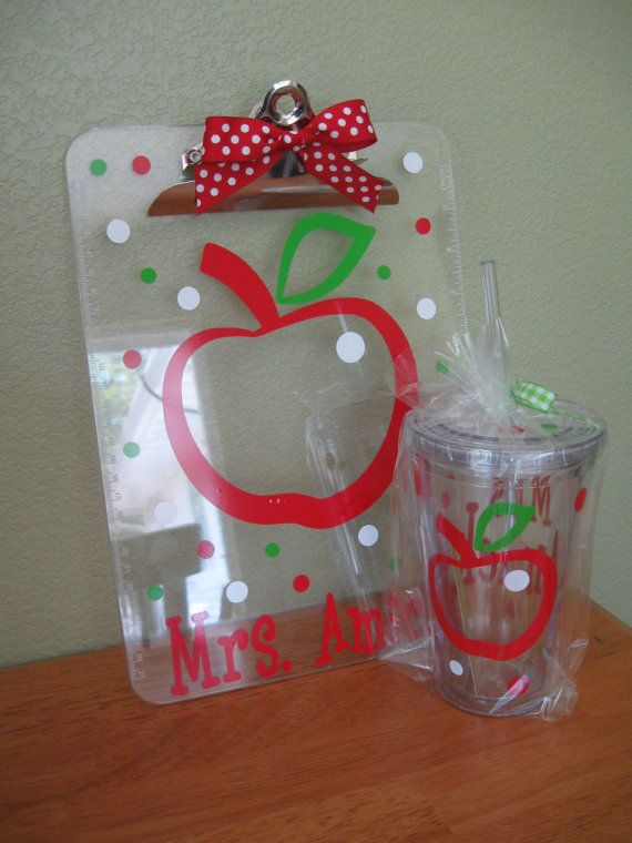 Personalized with name clear acrylic CLIPBOARD ONLY by DeLaDesign, $12.00