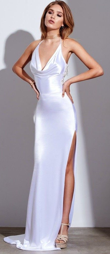 satin white dress