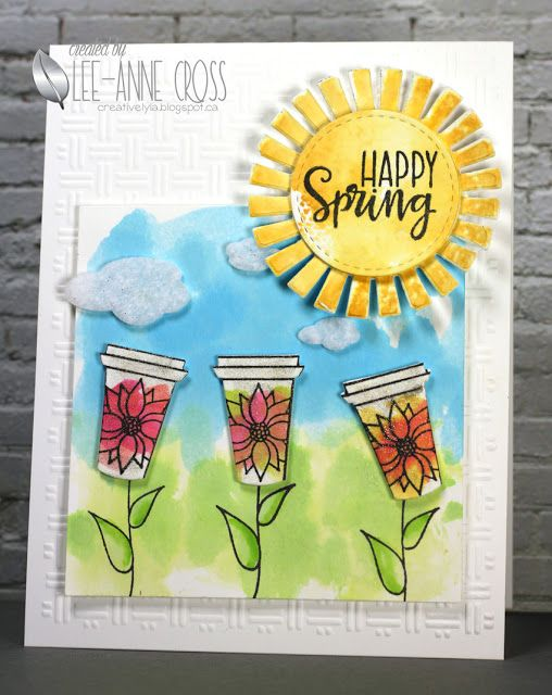 Coffee Lovers Garden featuring Verve stamps and dies